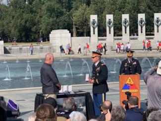 Chuck Davis Receives His Father's Bronze Star