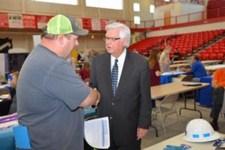 Job Seekers at Tug Valley Job Fair