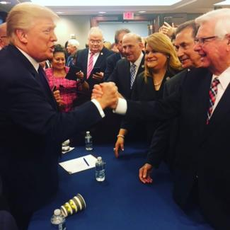Trump and Rogers celebrate Tax Reform