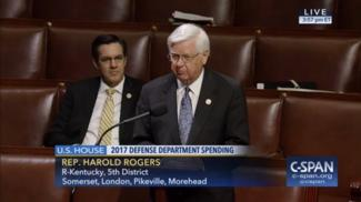 Rogers' Floor Speech on FY17 Defense Spending Bill